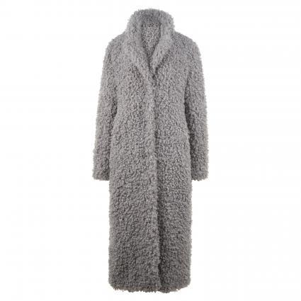 Mantel 'Cergy' gekringelter Fell-Opik grau (1400 fog grey) | 40