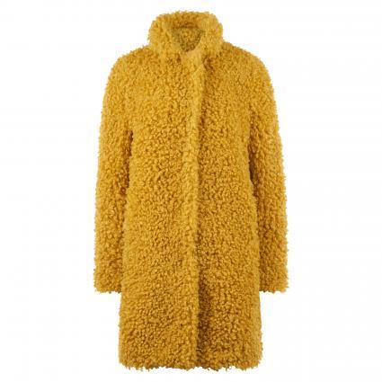 Longjacke 'Kimi' aus Fellimitat gelb (6800 warm yellow) | 34