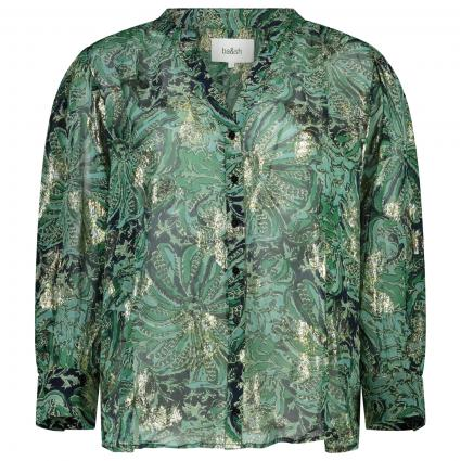 Bluse mit floralem Muster grün (GREEN WATERCOLOR ) | S
