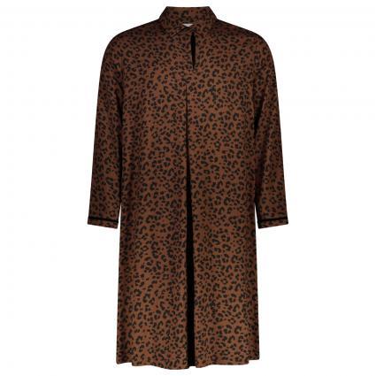 Kleid mit Animal Print camel (01)   54