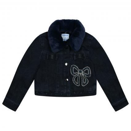 Jeans Jacke mit Steinchen Besatz  blau (052 Super dark) | 104