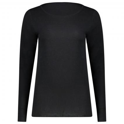 Langarmshirt mit Rundhalsausschnitt schwarz (110 black)   S
