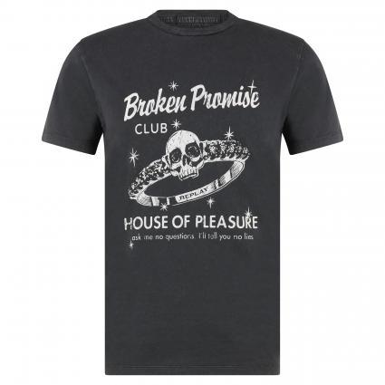 T-Shirt mit rockigem Print schwarz (099) | M