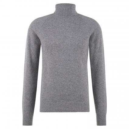 Pullover mit Rollkragen grau (grey melange)   L