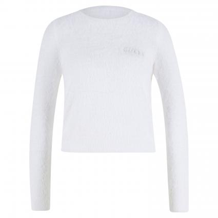 Flauschiger Pullover 'Rosmary' weiss (TWHT TRUE WHITE A000) | M