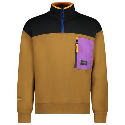 Sweatshirt mit Brusttasche braun (0217 Combo A) | S