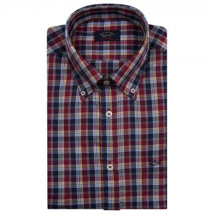 Button-Down Hemd mit All-Over Muster  divers (002) | 40