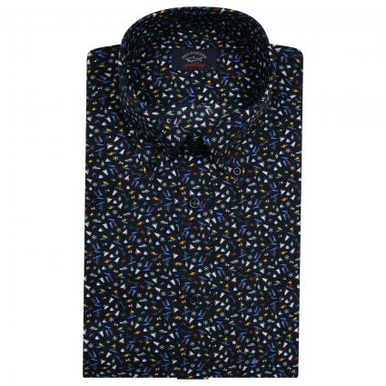 Button-Down Hemd mit All-Over Muster  divers (001) | 39