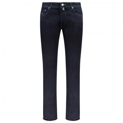 Handgefertigte Jeans Hose  marine (W4)   33