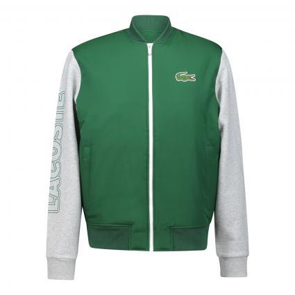 Bomberjacke mit kontrastfarbigen Ärmeln aus softer Sweatware grün (GY4 Green)   M