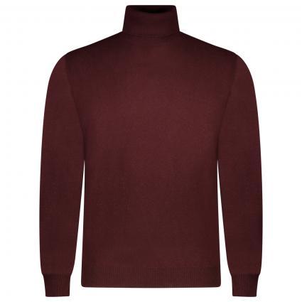 Rollkragen Pullover aus Wolle  bordeaux (040) | 54