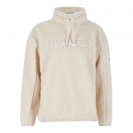 Sweatshirt 'Teide' in Teddy-Optik ecru (NS5 whitecap gray)   XL