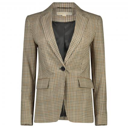 Blazer mit All-Over Karomuster  beige (110 ) | 42