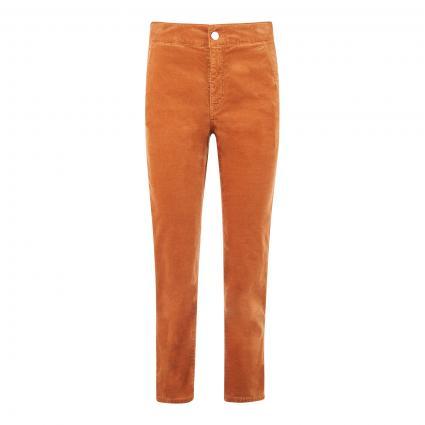 Straight-Leg Hose in Velours-Optik camel (650 rust) | 36