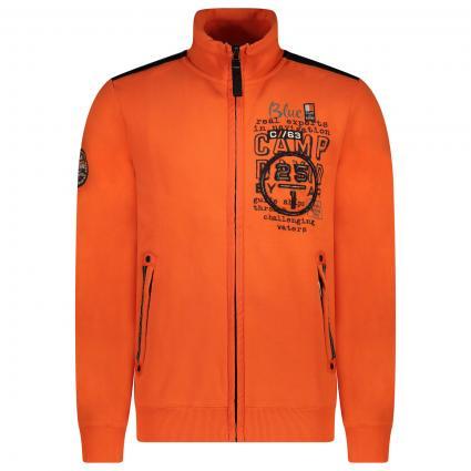 Sweatshirt Jacke mit Label Elementen  orange (Signal Orange) | M