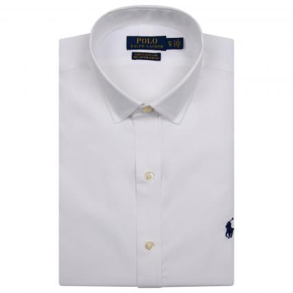 Slim-Fit Hemd mit Kent-Kragen weiss (001 WHITE) | 42
