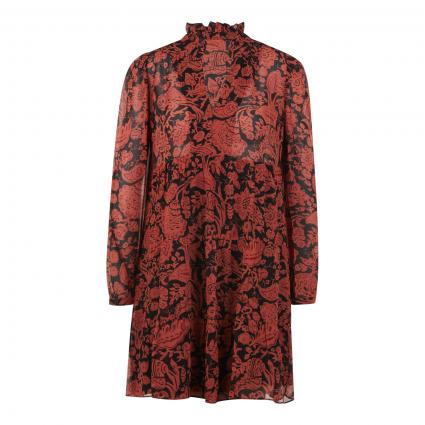 Kleid 'Azur' mit Musterung schwarz (BRICK BRIQUE) | 38
