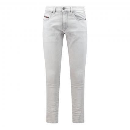 Slim-Fit Jeans 'D-Strukt' grau (69RE lt grey) | 29 | 30
