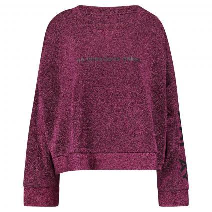 Sweatshirt in Glitzer-Optik bordeaux (110) | S