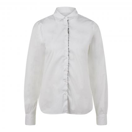 Bluse mit dekorativer Knopfleiste weiss (0+08 weiß/silber) | 38
