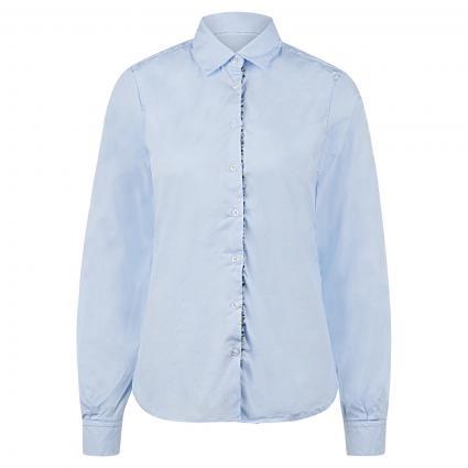 Bluse mit dekorativer Knopfleiste blau (22+08 bleu/silber) | 38