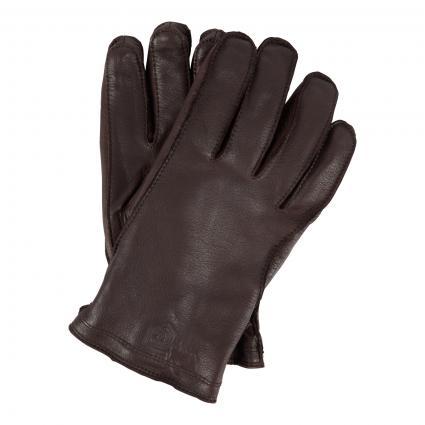 Lederhandschuhe mit Wattierung braun (780 braun) | 10
