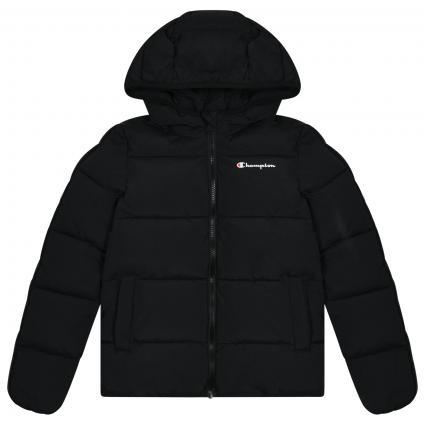 Jacke mit Label Elementen  schwarz (0KK01 NBK) | 128