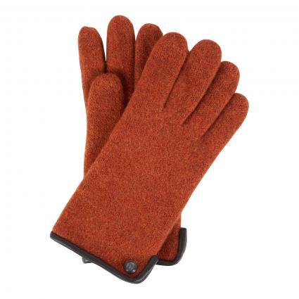 Handschuhe aus Schurwolle gelb (275 PUMPKIN) | 7,5