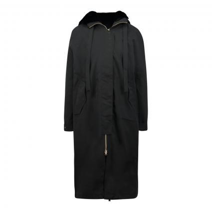 Mantel 'Sakura' mit Kapuze schwarz (999099 black) | S