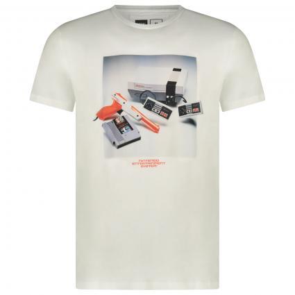 T-Shirt mit frontalem Nintendo Print  weiss (OFF WHITE) | L