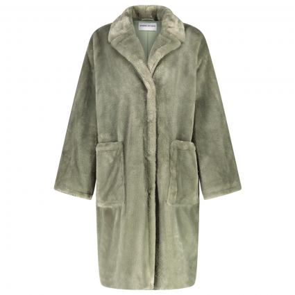 Mantel 'Reyna' aus Teddystoff grün (50100 DUSTY GREEN)   34