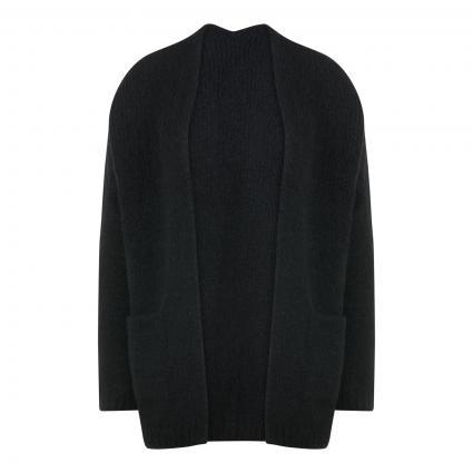 Strickjacke mit Einschubtaschen schwarz (1000 black) | S