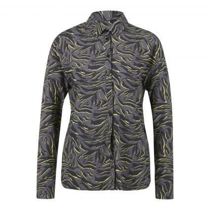 Elastische Bluse mit Animal-Muster oliv (598 deepforest) | 34