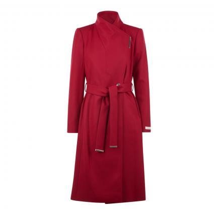 Wollmantel 'Rose' mit Bindegürtel rot (RED) | 36