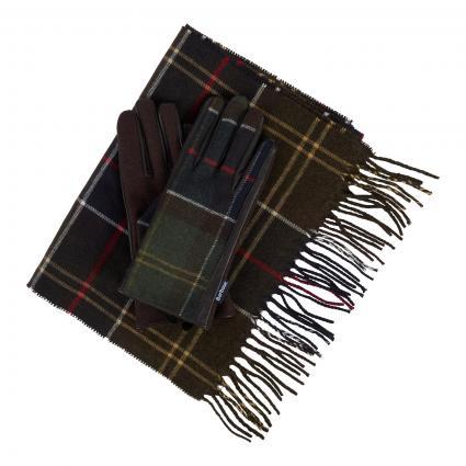 Geschenkset Schal und Handschuhe oliv (TN 11 oliv) | 0