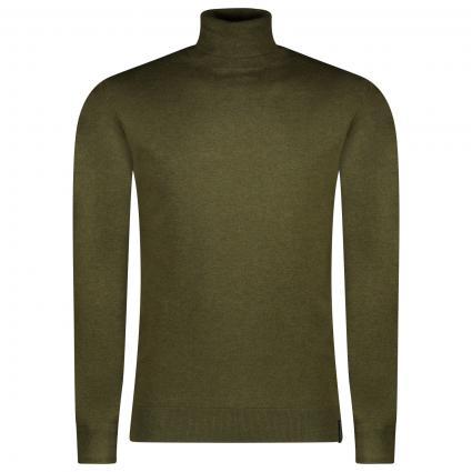 Leichter Pullover mit Rollkragen oliv (0679 army mel) | L