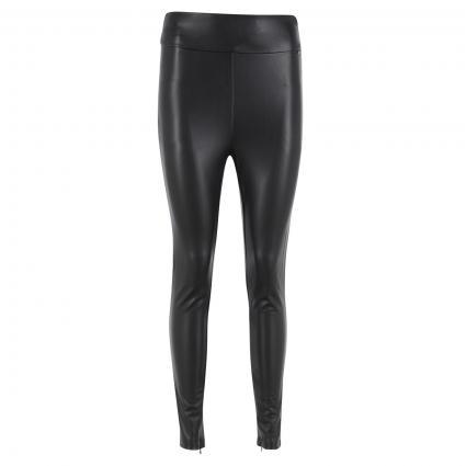 Leggings 'Priscilla' aus Lederimitat schwarz (JBLK JET BLACK A996) | XS