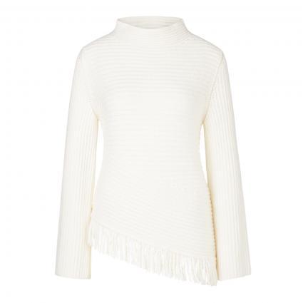 Pullover mit Fransenabschluss ecru (110 off-white) | 42