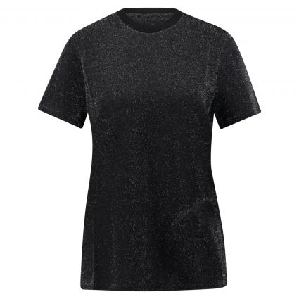 T-Shirt 'Elyas' in Glitzer-Optik schwarz (BLACK) | 40