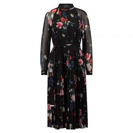 Kleid 'Naniro' mit floralem Print schwarz (BLACK) | 36