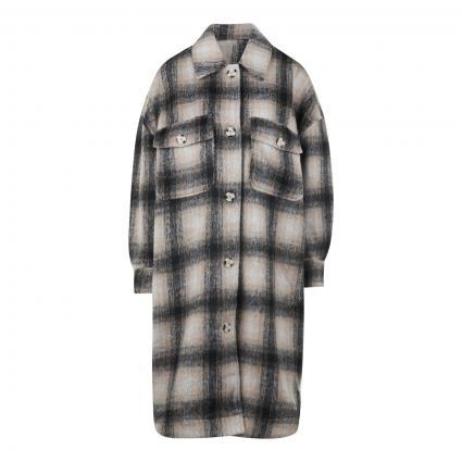 Mantel 'Nejla' im Overshirt-Style mit Karomuster ecru (9175 BIG CHECK) | L