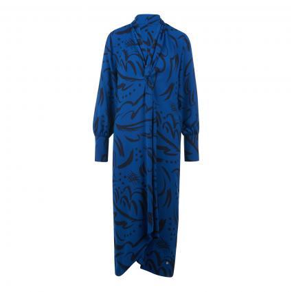 Kleid mit All-Over Muster marine (402 TRUE BLUE) | 38