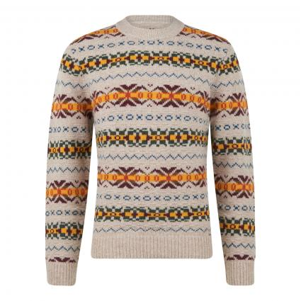 Pullover mit Musterung braun (185 Almond Mel) | S