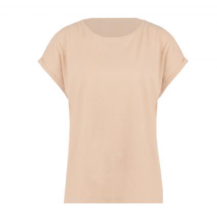T-Shirt mit weitem Rundhalsausschnitt beige (261 milky coffee) | XL