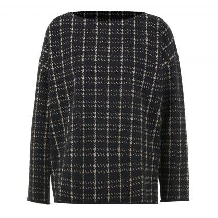 Sweatshirt mit Musterung  schwarz (110 black) | XL