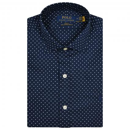 Slim-Fit Button down Hemd mit All-Over Muster  divers (001 ALLOVER DOT) | M