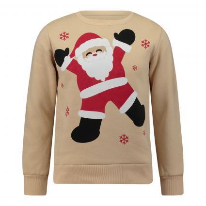 Sweatshirt mit Weihnachtsmotiv beige (beige combo) | M