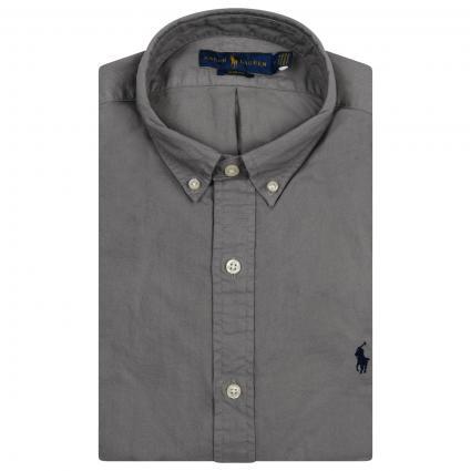 Slim-Fit Button Down Hemd  grau (004 PERFECT GREY) | XL
