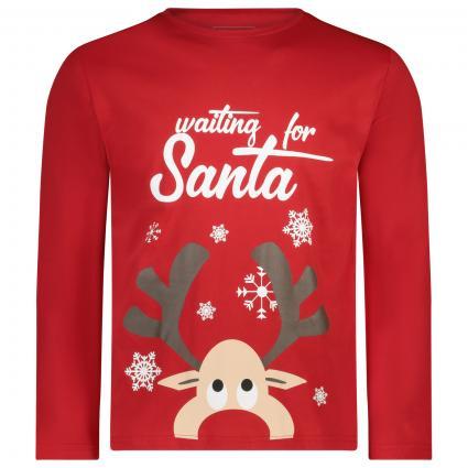 Langarm Shirt mit weihnachtlichem Print  rot (red combo) | M