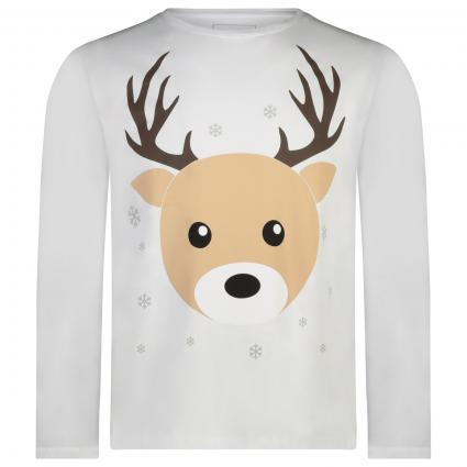 Langarm Shirt mit weihnachtlichem Print  ecru (ivory combo) | M